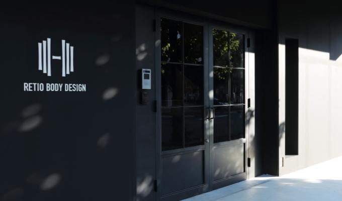 RETIO BODY DESIGN(レシオ・ボディ・デザイン)岡山市北区問屋町の24時間営業フィットネスジム外観